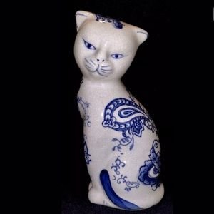 VTG Cat w/Floral Pattern Formalities by Baum Bros